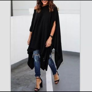 Sweaters - Lovely Black Poncho